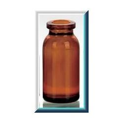 10mL Amber Molded Serum Vials, 25x54mm, Ream of 168