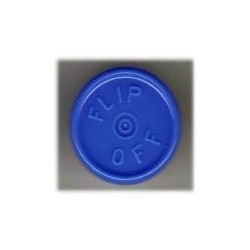 20mm Flip Off Vial Seals, Royal Blue, Pack of 100