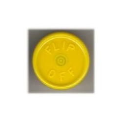 20mm Flip Off Vial Seals, Yellow, Pack of 100