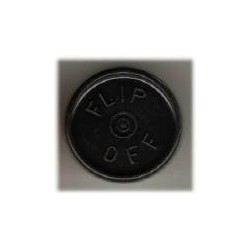 20mm Flip Off Vial Seals, Black, Pack of 100