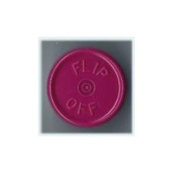 20mm Flip Off Vial Seals, Burgundy Violet, Bag of 1000
