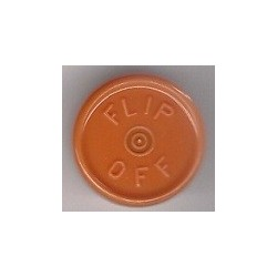 20mm Flip Off Vial Seals, Rust Orange, Pack of 100