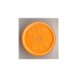 20mm Flip Off Vial Seals, Faded Light Orange, Pack of 100