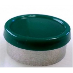 20mm Superior Flip Cap Vial Seal, Dark Green, Bag 1000