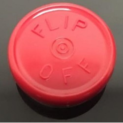20mm Flip Off Vial Seals, Red, Pack of 100