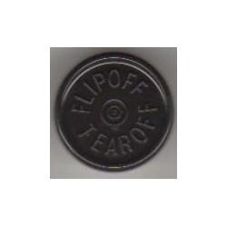 20mm Flip Off-Tear Off Vial Seals, Black, Pack of 100