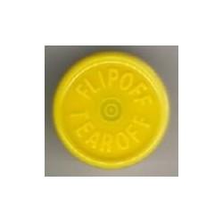 20mm Flip Off-Tear Off Vial Seals, Yellow, Bag 1000