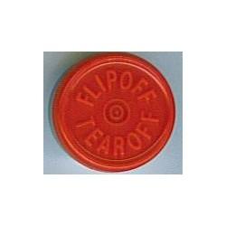20mm Flip Off-Tear Off Vial Seals, Red, Bag 1000