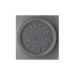 20mm Flip Off-Tear Off Vial Seals, Dark Gray, Pack of 100