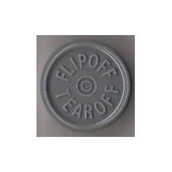 20mm Flip Off-Tear Off Vial Seals, Dark Gray, Bag 1000