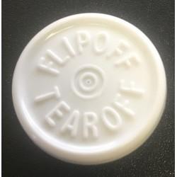 20mm Flip Off-Tear Off Vial Seals, White, Pack of 100