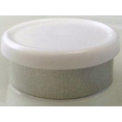 West Matte 20mm Flip Cap Vial Seal, White, Bag of 1000