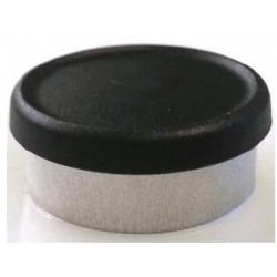 West Matte 20mm Flip Cap Vial Seal, Black, Bag of 1000
