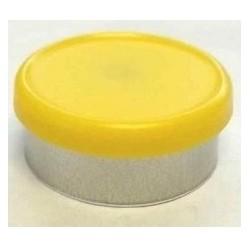 West Matte 20mm Flip Cap Vial Seal, Yellow, Bag of 1000
