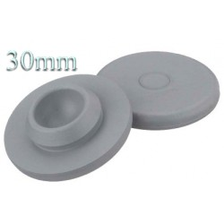 30mm Round Bottom Stoppers, Gray, Pk 100