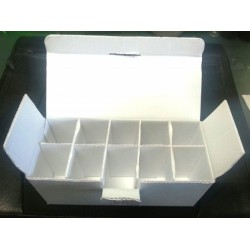 White cardboard vial box, 10x10mL case, pack of 5