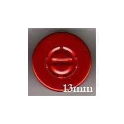 13mm Center Tear Vial Seals, Red, Pack of 100