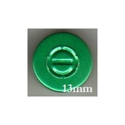 13mm Center Tear Vial Seals, Green, Bag of 1000