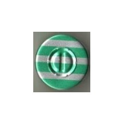 20mm Center Tear Vial Seals, Green Stripe, Bag of 1000
