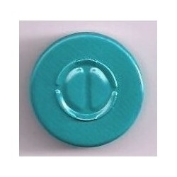 20mm Center Tear Vial Seals, Turquoise Blue Green, Pack of 100