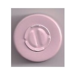 20mm Center Tear Vial Seals, Dusty Pink, Bag of 1000