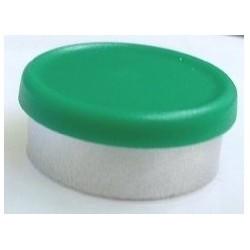 West Matte 20mm Flip Cap Vial Seal, Green, Bag of 1000