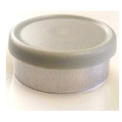 West Matte 20mm Flip Cap Vial Seal, Misty Gray, Bag of 1000