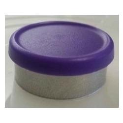 West Matte 20mm Flip Cap Vial Seal, Purple, Bag of 1000