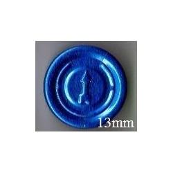 13mm Full Tear Off Vial Seals, Sapphire Blue, Pk 100