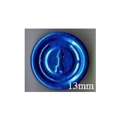 13mm Full Tear Off Vial Seals, Sapphire Blue, Bag 1000
