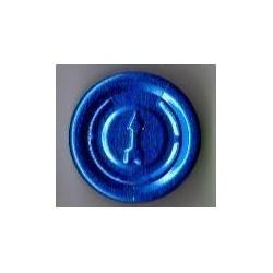20mm Complete Tear Off Vial Seals, Sapphire Blue, Pk 100