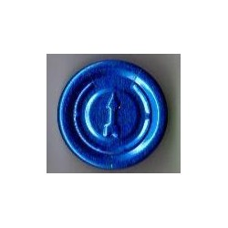 20mm Complete Tear Off Vial Seals, Sapphire Blue, Bag 1000