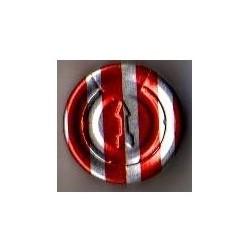20mm Complete Tear Off Vial Seals, Red Stripe, Pk 100