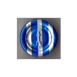20mm Complete Tear Off Vial Seals, Blue Stripe, Bag 1000