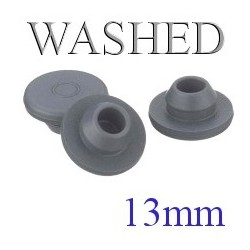 Ready to Sterilize Vial Stoppers, 13mm, Bag of 8000