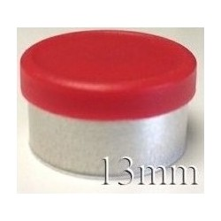 13mm West Matte Flip Off Vial Seal, Red, Bag of 1,000