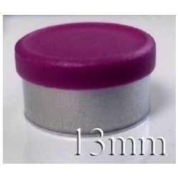 13mm West Matte Flip Off Vial Seal, Burgundy Violet, Bag of 1,000