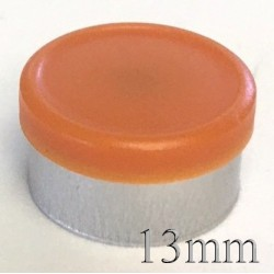 13mm West Matte Flip Off Vial Seal, Rust Orange, Bag of 1,000
