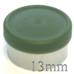 13mm West Matte Flip Off Vial Seal, Avocado Green, Bag of 1,000