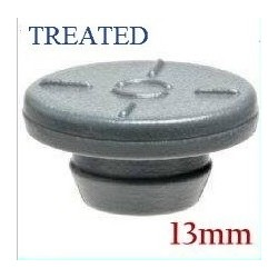 13mm Round Bottom Vial Stopper, Si Treated, Bag of 1000