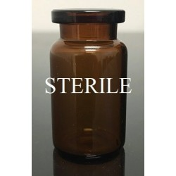6mL (5ml shorty) Amber Sterile Open Vials, 22x40mm, Depyrogenated, Ream of 219 pieces