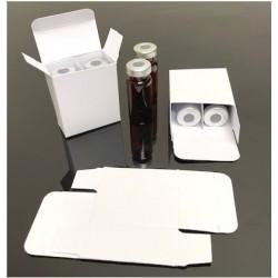 White vial box, 10mL Double Barrel, Pack of 50