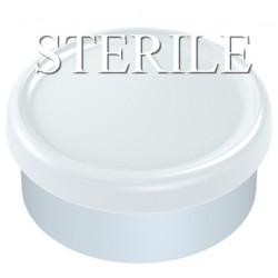 Sterile 20mm Matte Flip Cap Vial Seals, White, Bag of 1,000
