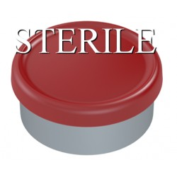 Sterile 20mm Matte Flip Cap Vial Seals, Red, Bag of 1,000