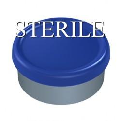 Sterile 20mm Matte Flip Cap Vial Seals, Royal Blue, Bag of 1,000