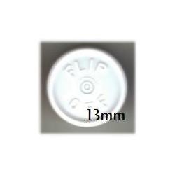 13mm Flip Off Vial Seals, White, Bag of 1000