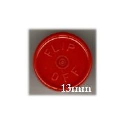 13mm Flip Off Vial Seals, Red, Bag of 1000