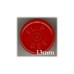 13mm Flip Off Vial Seals, Red, Pack of 100