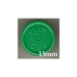 13mm Flip Off Vial Seals, Green, Bag of 1000