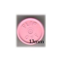 13mm Flip Off Vial Seals, Frost Pink, Case of 1000